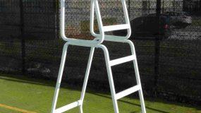 Seggiolone in alluminio per arbitro tennis