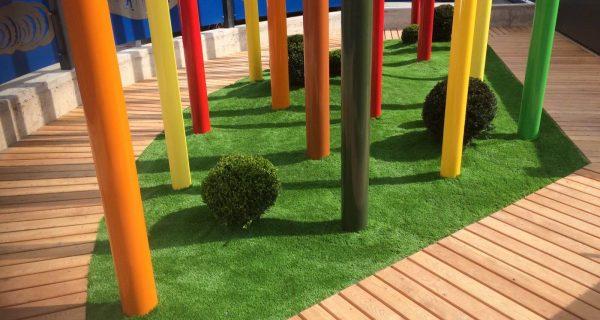 Realizzazione giardino privato con particolari presso Casa Sebastiano