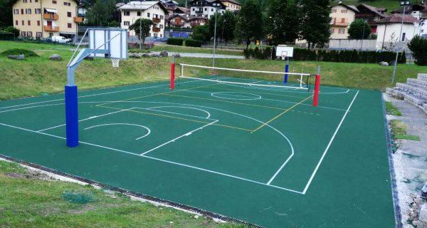 Giustino - Pinzolo (TN) - Pavimentazione in resina poliuretanica presso l'area sportiva