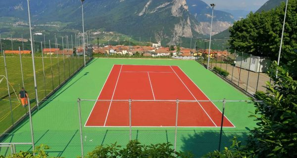 Sporminore (TN) Nuovo tennis sistema TNS Cushion Mapei