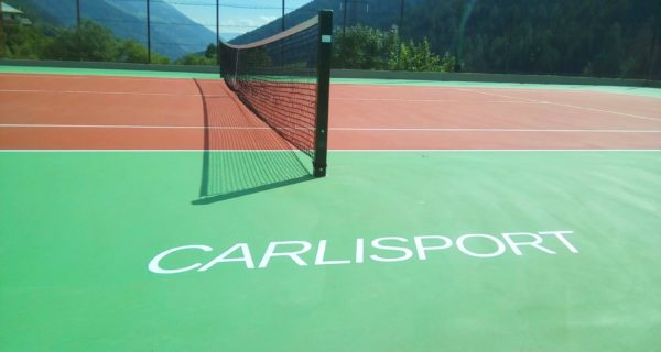 Vermiglio - Val di Sole- Nuova pavimentazione per il campo da tennis comunale in resina acrilica Tns Multisport Cushion
