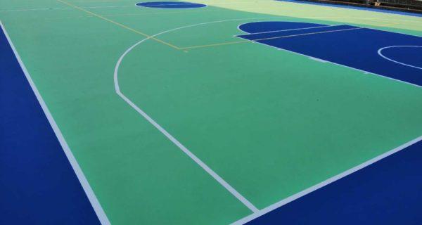 Brentonico (TN) Nuova pavimentazione polivalente in resina acrilica Tns Multisport Professional