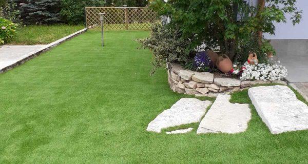 Giardino erba sintetica h.60 mm Soft Touch in residenza privata