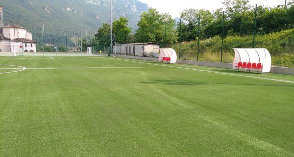 Idro - Brescia Realizzazione sottofondi e posa del manto del nuovo campo da calcio a 8 del Comune di Idro