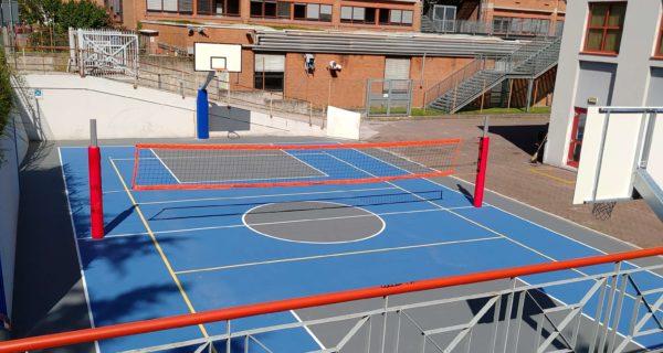 Bolzano Scuole Fermi (TN) Rifacimento campetto scuola in resina TNS Multisport Comfort